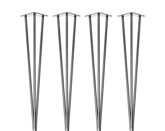 ON SALE 4 x Hairpin Legs With Adjustable Height Feet for Uneven Floors