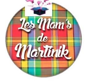 1 cabochon clear 20mm martinique theme