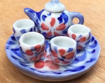 Miniature Tea Set,Miniature Chinese Tea Set,Miniature Coffee,Dollhouse Tea set, Miniature Tea Pot,Dollhouse Tea Pot,Miniature Coffee