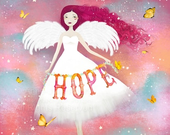 Hope - open edition print - Whimsical Art