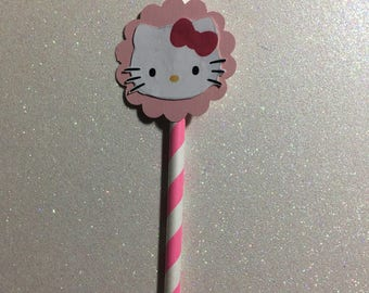 Hello Kitty paper straws 10ct