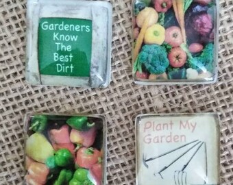 Gardeners Know The Best Dirt Magnets - Refrigerator Magnets - Vegetable Magnets -Gardening Tools Magnets