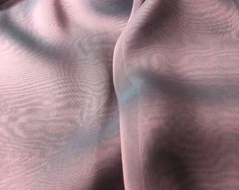 "2.75yd Remnant 100% Rayon Chiffon Iridescent 53""w Purple/Blue"