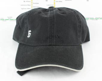 """Sale! Down Low, Low-Key """"The 6"""" Hat! 100% Cotton Unstructured 416 Toronto Dad Caps with a White Sandwich Brim (black on top and underneath)"""