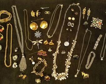 High End Vintage jewelry lot signed/hallmarked