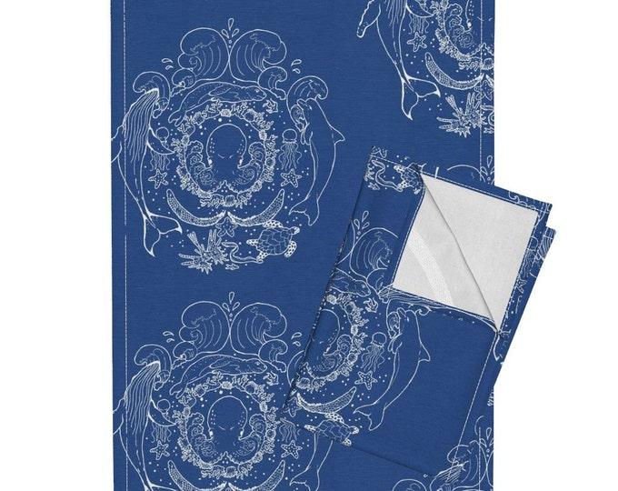 Nautical - Dark Blue Tea Towel