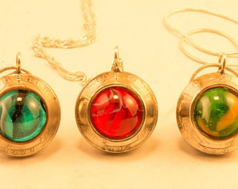 Coin marble necklace