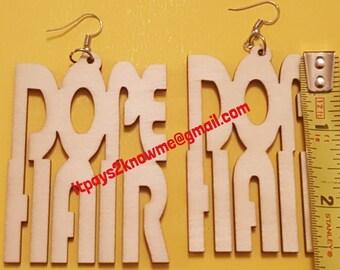 Dope Hair natural wood earrings
