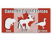 BUMPER STICKER Armed Forc...