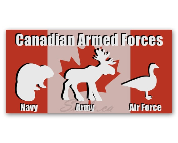 Bumper sticker armed forces funny sticker canadian