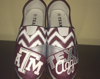Texas A&M University Aggies womens shoes Toms available