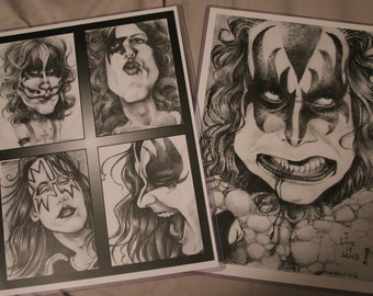 Kiss art prints 2-pack set