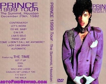 Prince And The Time Live The 1999 Tour 12-28-1982 Rare Dvd