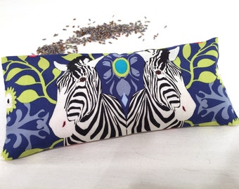 Organic Lavender Eye Pillow, Zebra, heat pack, aromatherapy, cold pack, yoga accessories, yoga gifts, restorative gifts, spa gifts