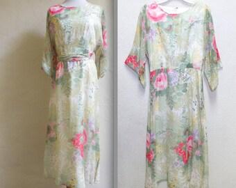 Vintage 70s Pastel Dream Posh Jay Anderson Garden Party Dress