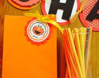 Elmo tags , Elmo gift tags, elmo favor tags