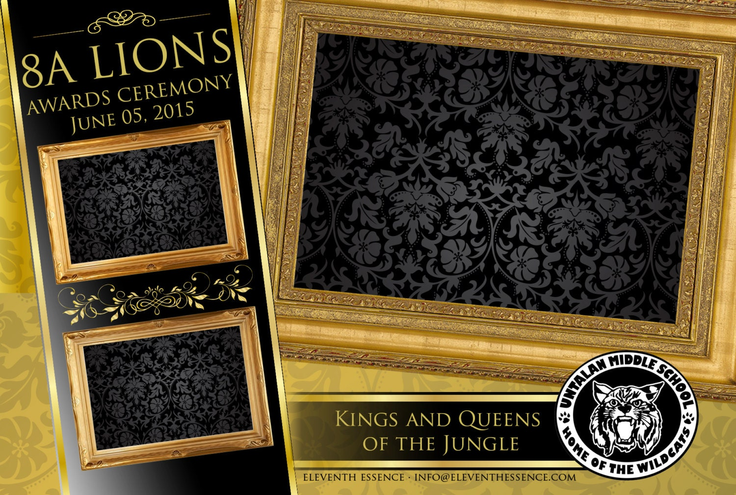 Photo booth design layout template gold and black royalty photo booth design layout template gold and black royalty theme psd file jeuxipadfo Image collections