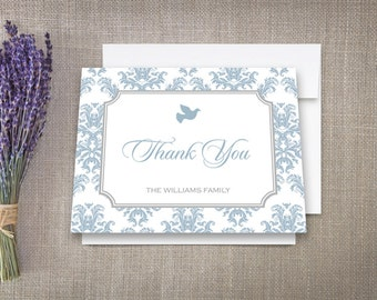 Thank You Cards, Damask Dove