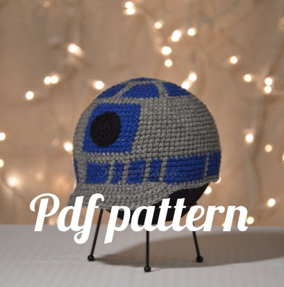 R2d2 Beanie With Bill Crochet Pattern From 3tiers4cake On Etsy Studio
