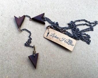 Walnut Double Arrow Lariat Necklace