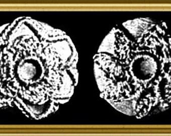 Crochet Button Pattern from 1908 Downloadable PDF Vintage Pattern