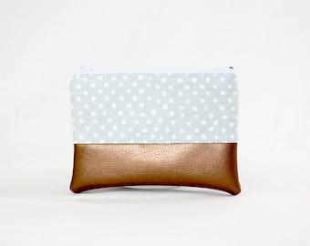 Mini bag - dots, bag, cosmetic bag, purse, make-up bag, vegan, minimalist, pouch, pencil case,