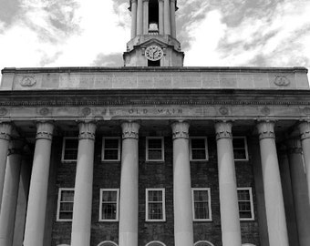 Penn State Photography, Architecture Photograph, Black and White Photo, Old Main 1, Limited Edition of 25 Fine Art Photography Prints
