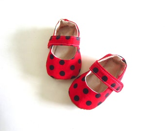 Baby Girl Lady Bug Baby Mary Janes