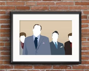 The Sopranos Poster - Tony Soprano Poster - The Sopranos Print - Sopranos Wall Art Decor - Geek Gift - TV Poster - James Gandolfini Print