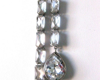 Art-Deco Sterling  Silver & Paste Necklace