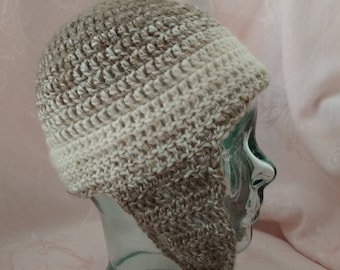 Ombre Crotched Ear Flap Beanie