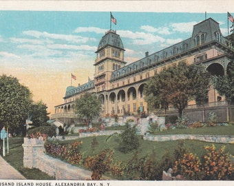 Antique Postcard Thousand Island House Hotel Alexandria Bay NY 1920's