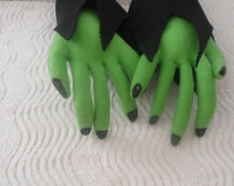 Made to order - Custon item  Witch Hands,  Witch hands atached to black fabric