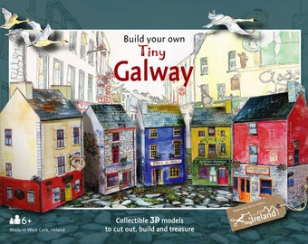 Build your own tiny Galway - an innovative Irish paper model kit