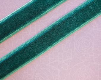 plain teal velvet Ribbon