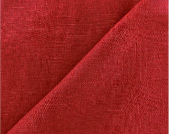 heavy linen - 280cm (red), weight 250 gr M2 french weaving meter brand Linder
