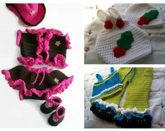 Crochet patterns for girls, Patterns for girls, Baby crochet pattern, Cowgirl pattern, Crochet diaper set, Girls top and pants