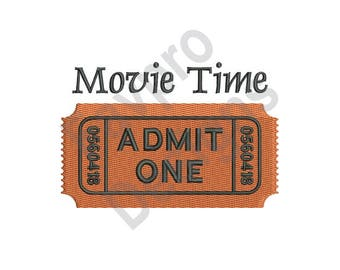 Movie Time - Machine Embroidery Design