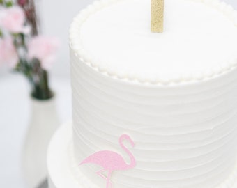 Custom Glitter Number or Initial Cake Topper for Birthday, Wedding, Anniversary and Special Event.
