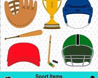 Sport Items SVG, Sport Items Files, Sport Items Clipart, Sport SVG, Sport Scrapbook, Vector Files, dxf Files, MSD-030