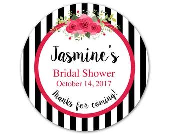 Custom Bridal Shower Labels - Bridal Shower Stickers - Personalized Shower Stickers - Custom Labels - Favor Stickers - Floral Labels