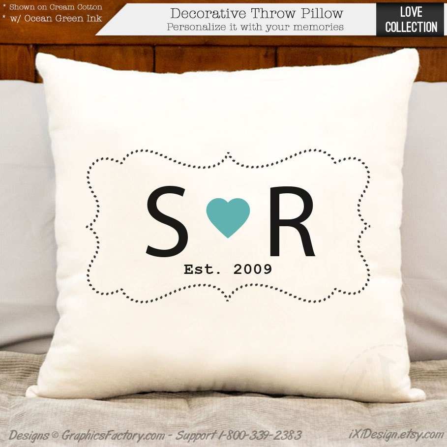 2nd anniversary cotton gift personalized gift custom initial