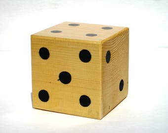 Yard Dice,Wooden Dice,Yard Games,Large Wood Dice,Giant Dice,Christmas Gift Idea,Outside Games,Outside Toys,Oversized Dice,Outdoor Games