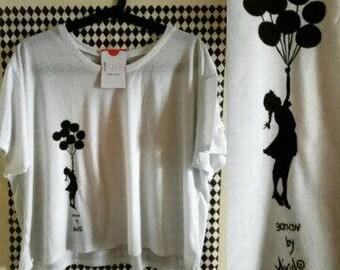 Woman girl Ballon T-shirt