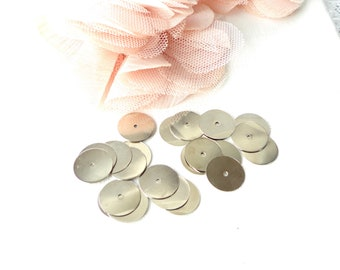 metal bead, bead disc, 14 mm, metal connector, round spacer,