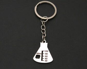 Erlenmeyer Flask Keychain (Item #404)