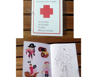 "Survival kit ""for MOM in panic"" pirate girl"