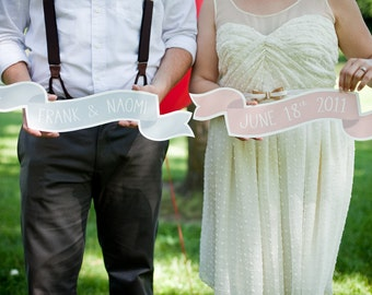 Set of 2 Custom Large Banner No. 2 Wedding Photo Prop