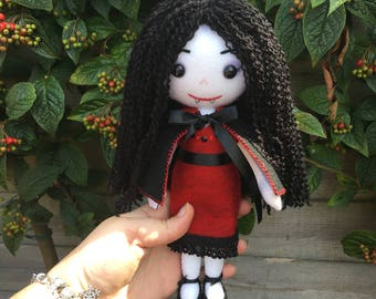 Vampire Doll Vampyress Toy Dracula Horror Dolls Halloween Toys Ugly Cute Creepy Cute Ragdoll Goth Doll