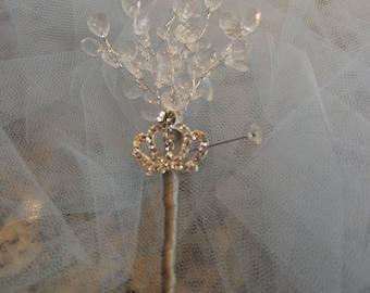Cinderella Crystal Wedding Boutonnière